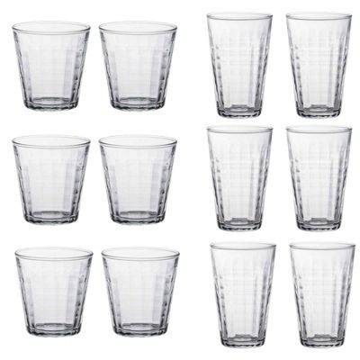 Duralex Prisme Water Tumblers 220ml & Hiballs 330ml - Set of 12 6 of each