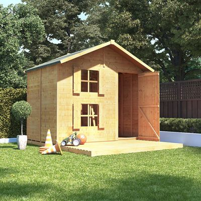 6x7 BillyOh Peardrop Extra Children Wooden Playhouse Outdoor - Premium with Platform