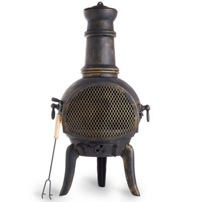 VonHaus Cast Iron Chiminea