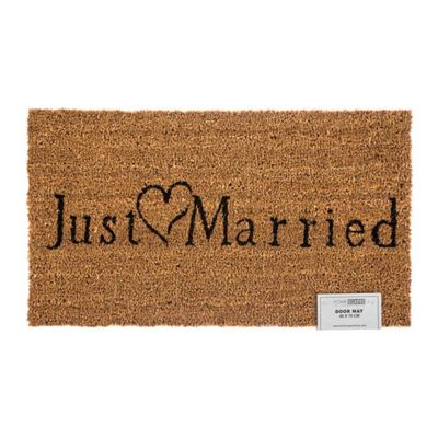 Homescapes Just Married Coir Doormat