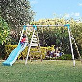 TP Fiordland Wooden Double Swing Set & Slide