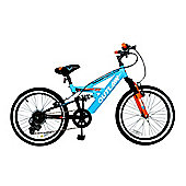 "Concept Outlaw 20"" Wheel 6 Spd Dual Sus Kids MTB Bike"