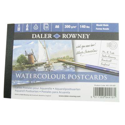 Daler Watercolour Postcard Pad A6