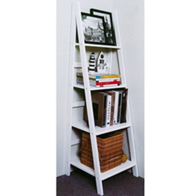 Scott - Ladder 4 Tier Storage / Display Shelves - White