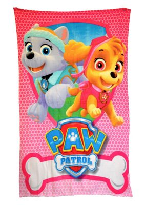 Paw Patrol 'Rescue' Girls Panel Fleece Blanket Throw