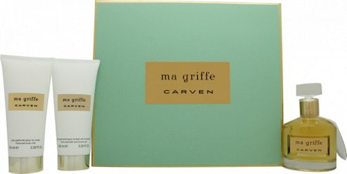 Carven Ma Griffe Gift Set 100ml EDP + 100ml Bath & Body + 100ml Body Lotion For Women
