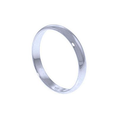 QP Jewellers Wedding Band in 14K White Gold - Size L 1/2