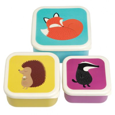 Children's Snack Boxes - Forest Friends, Girl's Snack Boxes, Kids Lunch Boxes