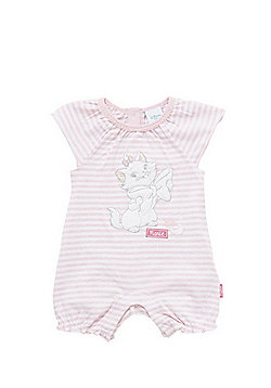 Disney The Aristocats Marie Striped Romper - Pink & White