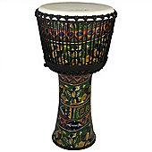 "World Rhythm 9"" Synthetic Green Djembe Drum"