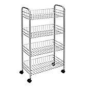 Metaltex Valencia 3 Shelf Trolley, White