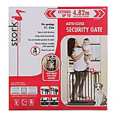 Stork Pressure Mounted Auto-Close Gate 71-82cm - Black