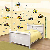 JCB Wall Sticker Kit with Height Chart