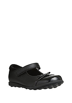 F&F Patent Toecap Mary Jane School Shoes - Black