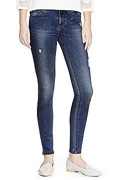 JDY Distressed Stretch Skinny Jeans - Mid wash