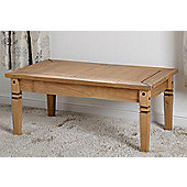 Salvador Coffee Table in Distressed Waxed Pine