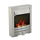 Homcom 2KW Stainless Steel Electric Fireplace Pebble Burning Effect Heater LED Lighting
