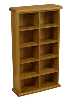 Oakland Medium Double Oak DVD Storage Cabinet / Oak CD Storage Cabinet