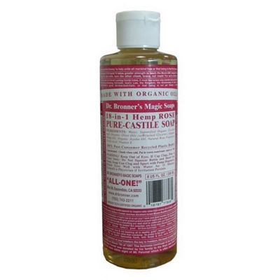 Rose Castile Liq Soap Organic (472ml Liquid)