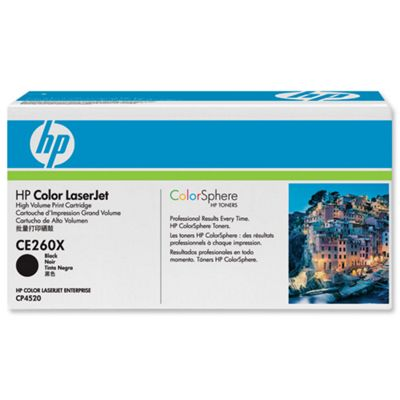 HP Black Print Cartridge - High Capacity (Yield 17,000 Pages) with improved ColorSphere toner formulation and Smart Printing Technology