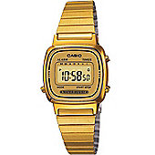 Casio Casio Collection Ladies Gold Ion-plated Chronograph Watch LA670WEGA-9EF