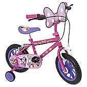 "Disney Minnie Mouse 12"" Kids' Bike with Stabilisers"