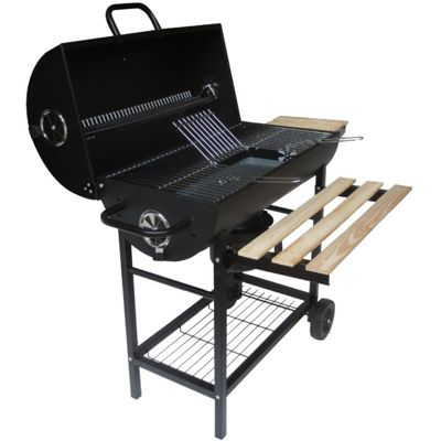 BillyOh Portable Barrel Charcoal Barbecue Smoker Grill Outdoor Cooking BBQ