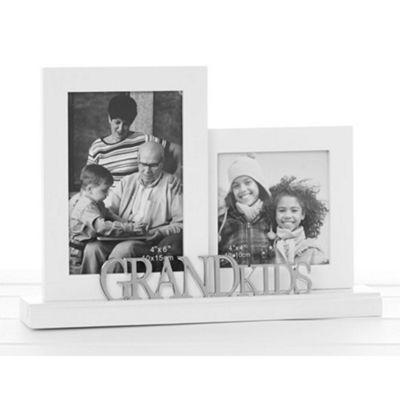 Buy Grandkids - Double Decorative Freestanding Photo Frame - White ...