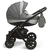 Mee-Go Milano Classic Chassis Pushchair-Lily White (White Chassis)