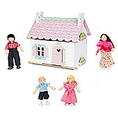 Le Toy Van Lily's Cottage and My Family of 4 Dolls