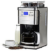 Andrew James Bean to Cup Coffee Maker Machine with Timer, 12 Cup Capacity -1050 Watts