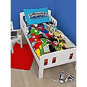 DC Super Friends 4 in 1 Junior Toddler Bedding Bundle Set