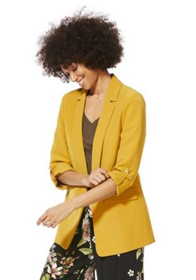 F&F Open Front Girlfriend Blazer Mustard 8