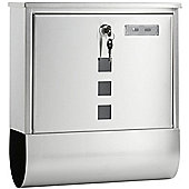 VonHaus Wall-Mount Letterbox - Silver