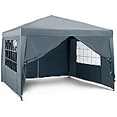 VonHaus Pop Up Gazebo 3x3m Set - Outdoor Garden Marquee with Water-resistant Cover, Wind Bars & Leg Weights