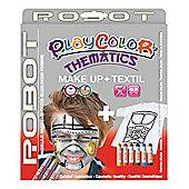 Playcolor Basic Make Up Pocket 5g + Textil One 10g Face Paint Stick (Robot Set)