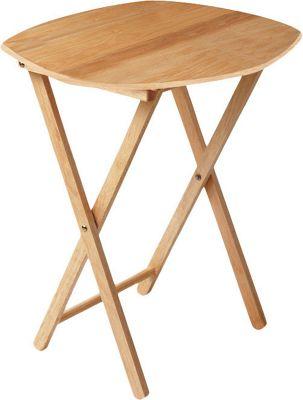 Premier Housewares Oval Snack Table - Antique Pine