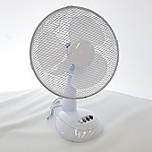 Daewoo 12 Inch Oscillating Desk Fan - White