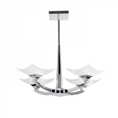 Chrome Effect Plate & Scavo Effect Glass 4lt Semi Flush 33W