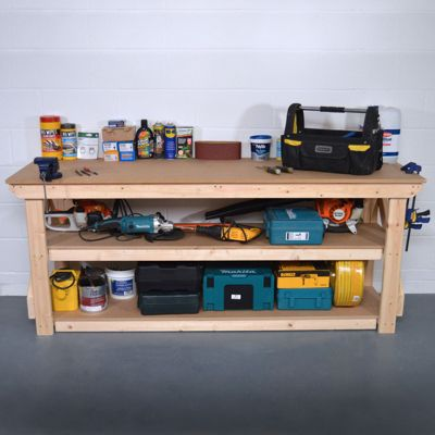 MDF Wooden Work Bench - With Shelf - 5ft