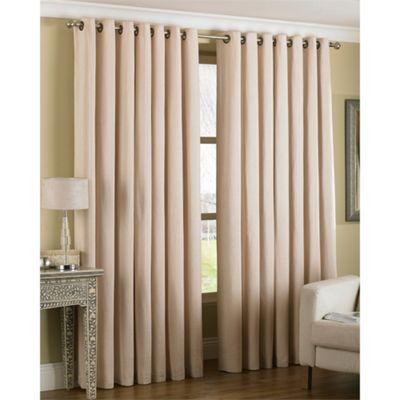 Riva Home Amari Ivory Eyelet Curtains - 66x72 Inches (168x183cm)