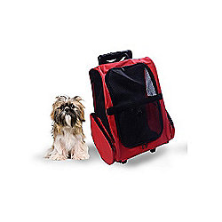 45248f576ef8 PawHut Pet Travel Backpack Bag Cat Puppy Dog Carrier w  Trolley