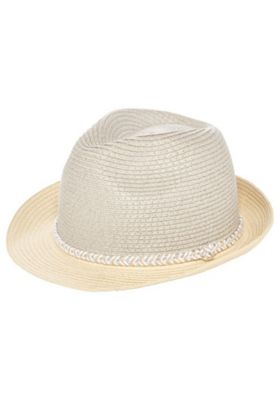 F&F Colour Block Trilby Hat Natural One Size