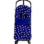 Snuggle Footmuff To Fit graco Buggy Stadium Duo Quattro Mirage Evo - Blue Star