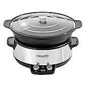 Crock Pot CSC011 6 Litre Digital Saute Slow Cooker with 250W in Stainless Steel