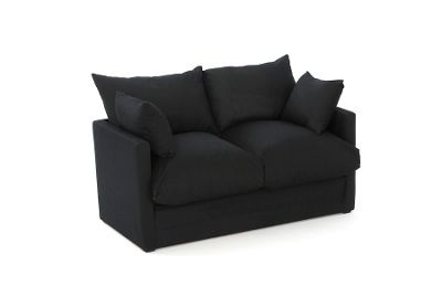 Buy Comfy Living Fold Out Childrens Sofa Bed With Cushions In Black