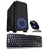 Cube Fast ESport Quad Core Gaming PC Bundle RX 550 2GB GPU 4GB 1TB WIFI Win 10