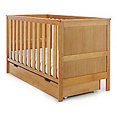Obaby Newark Cot Bed & Under Drawer - Country Pine