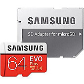 Samsung EVO Plus 64 GB microSDXC Flash Memory Card with SD Adapter