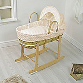 PreciousLittleOne Moses Basket Bedding Set (Dimple Cream)